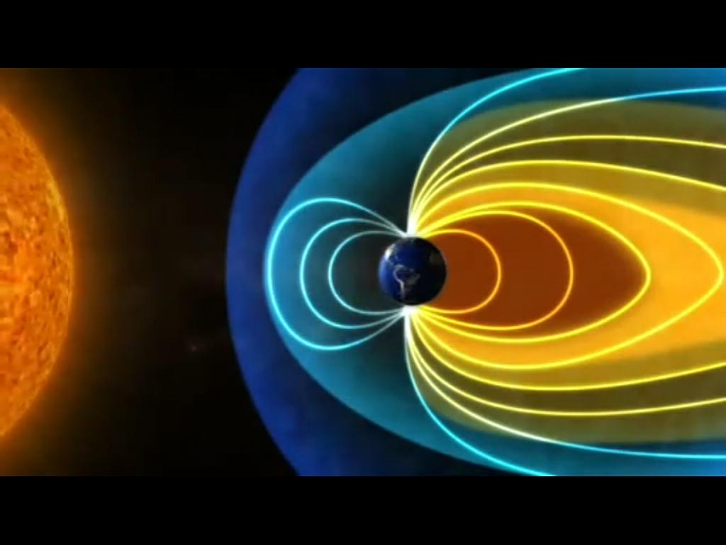 宇宙の放射線から地球を守っている磁力線